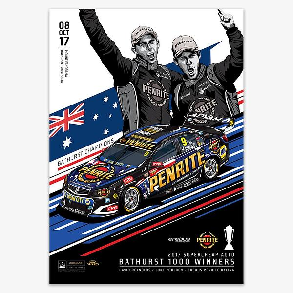 2017 EREBUS PENRITE RACING BATHURST WINNER PRINT